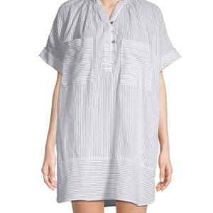 """Free People """"For Keeps"""" Striped Linen Blend Shirt"""